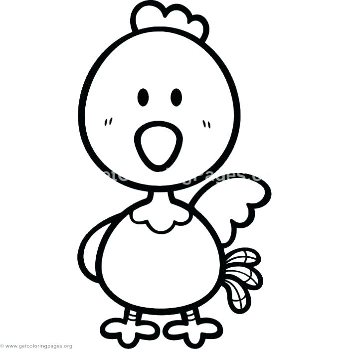 700x700 Chick Coloring Pages