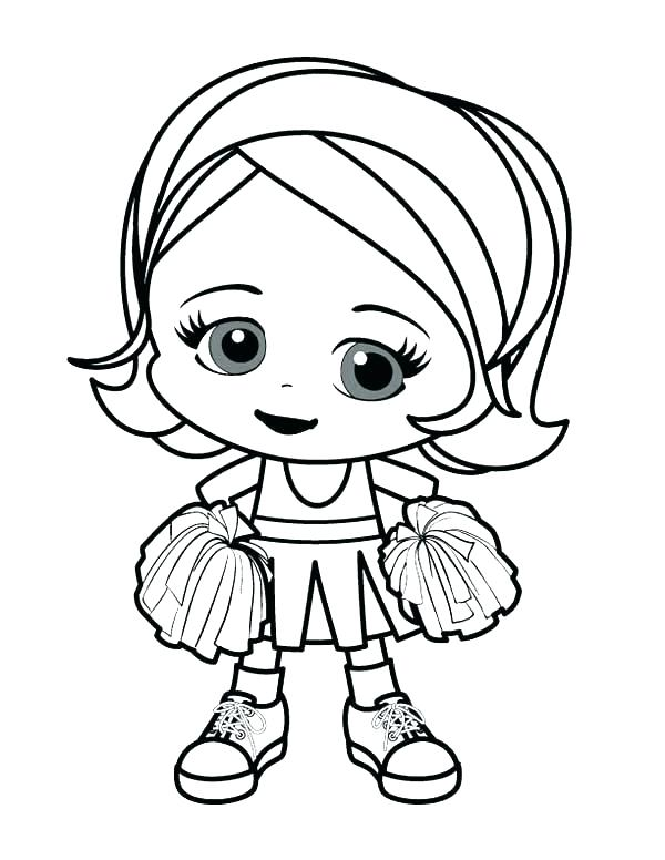 600x776 Cheer Coloring Pages Girl Superhero Coloring Pages Coloring Page