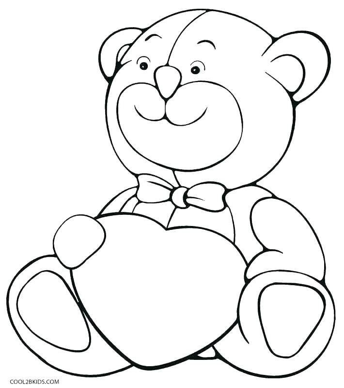 710x800 Cute Bear Coloring Pages Picture Of Teddy Bear To Color