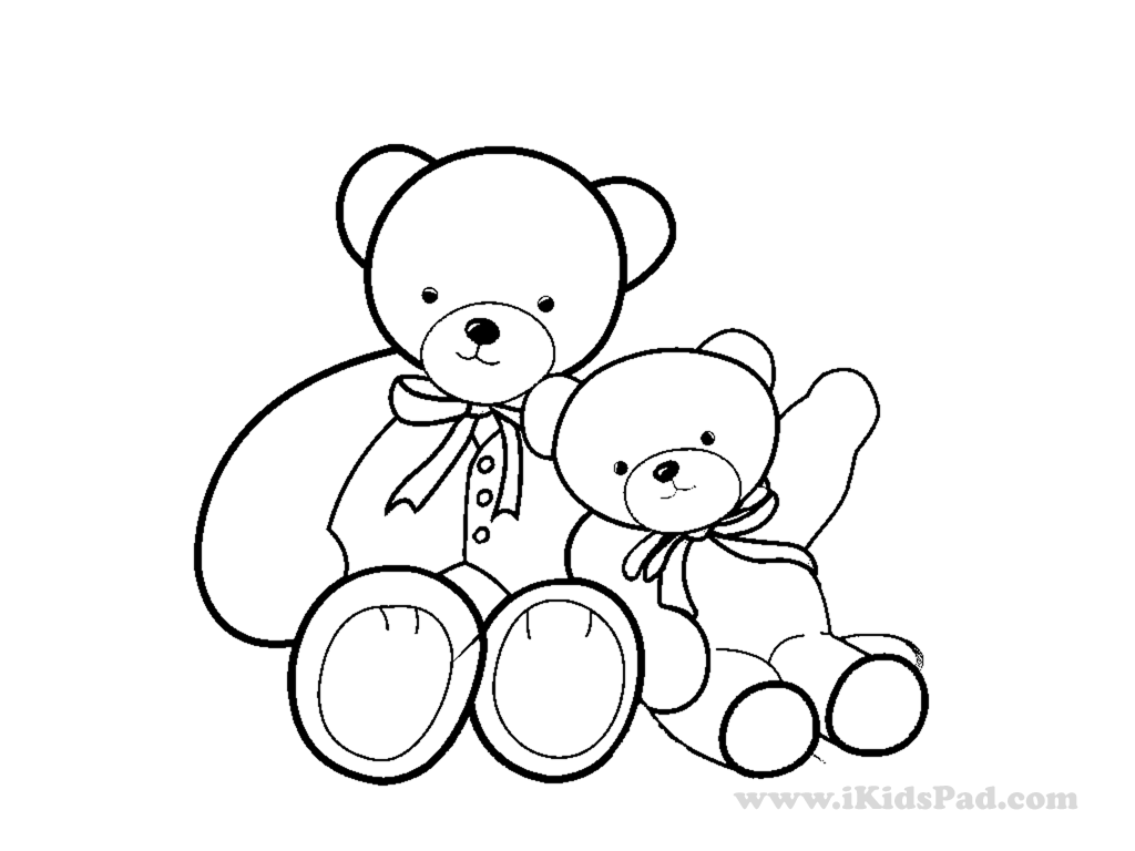 1024x768 Cute Teddy Bear Coloring Pages