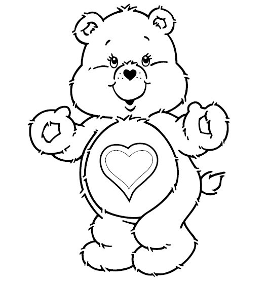 529x554 Cute Teddy Bear Coloring Pages