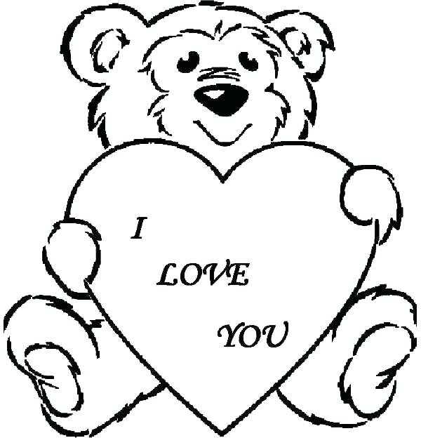 600x624 Cute Teddy Bear Coloring Pages Free Teddy Bear Coloring Pages