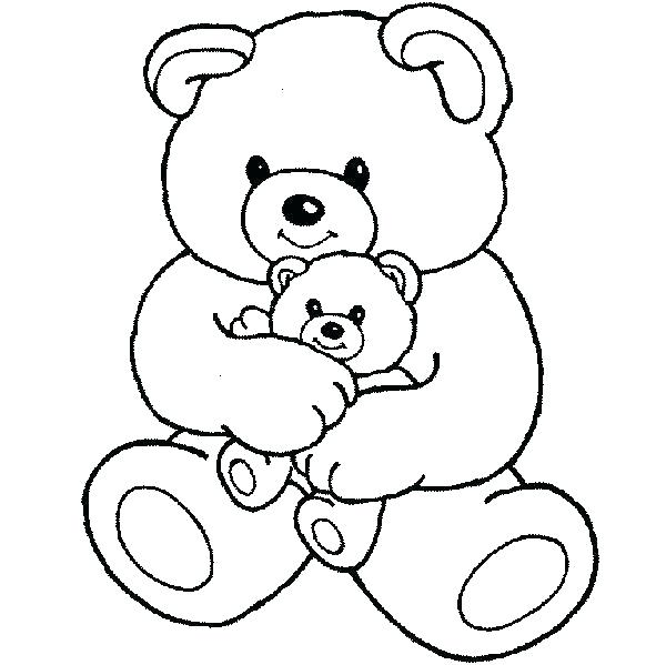 600x599 Cute Teddy Bear Coloring Pictures Teddy Bear Color Page Teddy Bear
