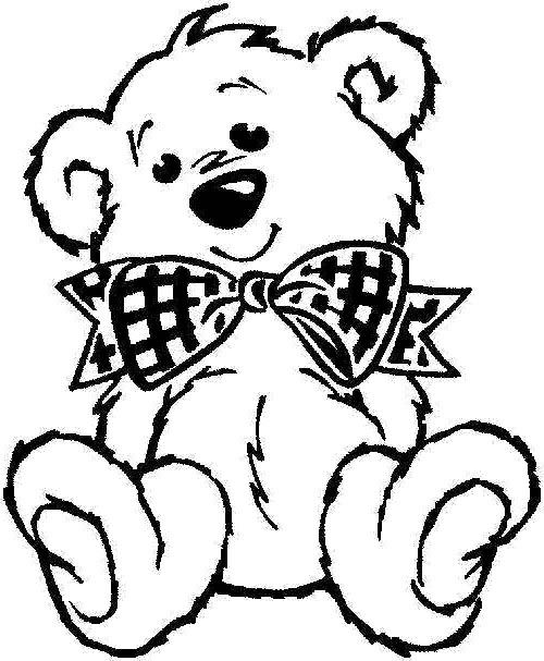 500x607 Teddy Bear Coloring Page Coloring Pages Teddy Bear