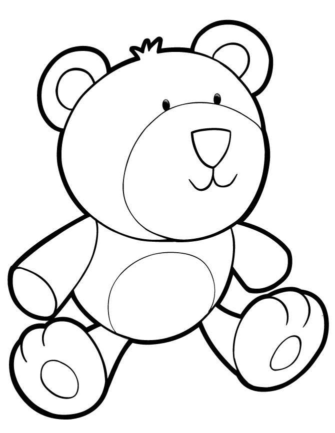 670x867 Teddy Bear Coloring Page Lovely Cute Teddy Bear Coloring Pages