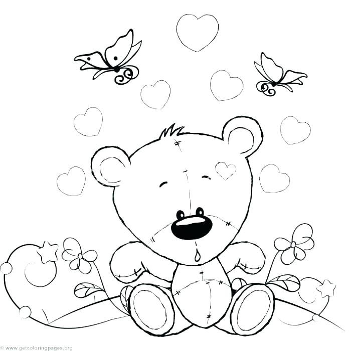 700x700 Teddy Bear Colouring Images Cute Teddy Bear Coloring Pages Cute