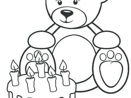 440x330 Coloring Pages Teddy Bears