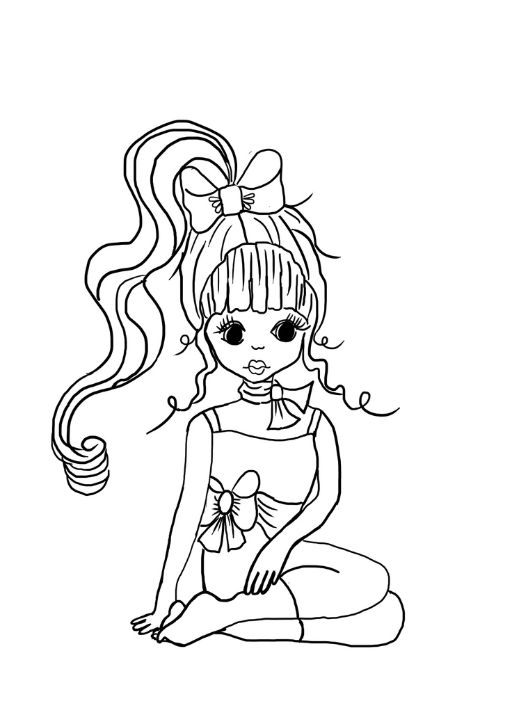 736x1041 Girly Coloring Pages