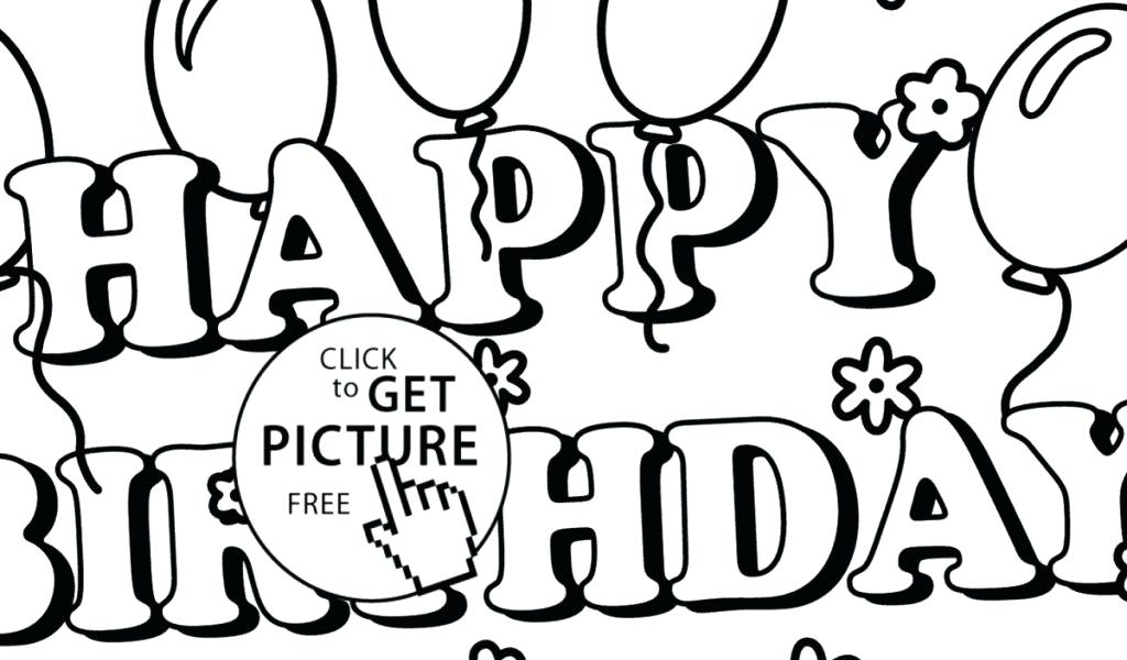 1024x600 Happy Birthday Coloring Cards Printable Elegant Cute Things To Say
