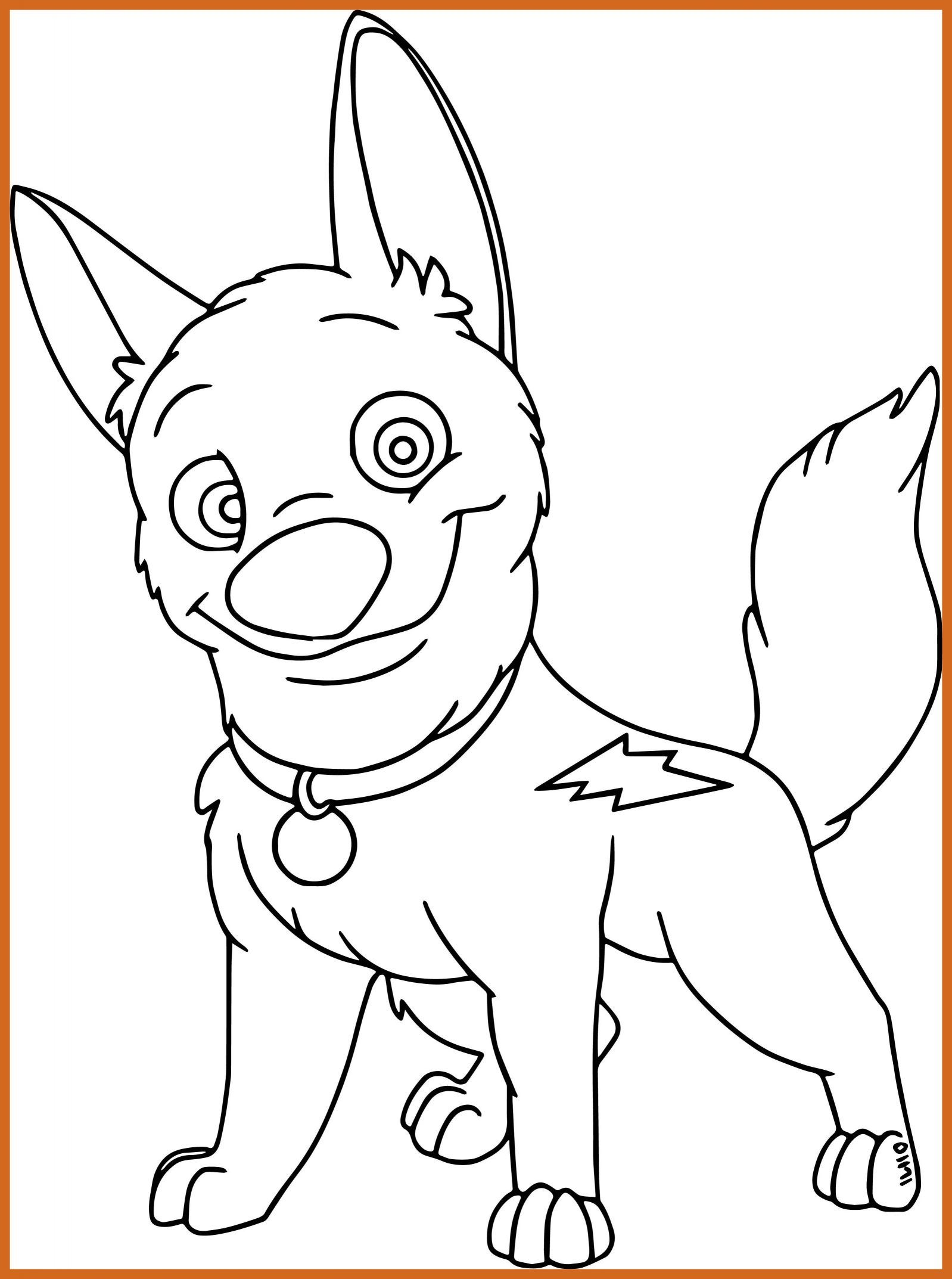 1598x2146 Amazing Cute Bolt Dog Coloring Pages Wecoloringpage For Puppy