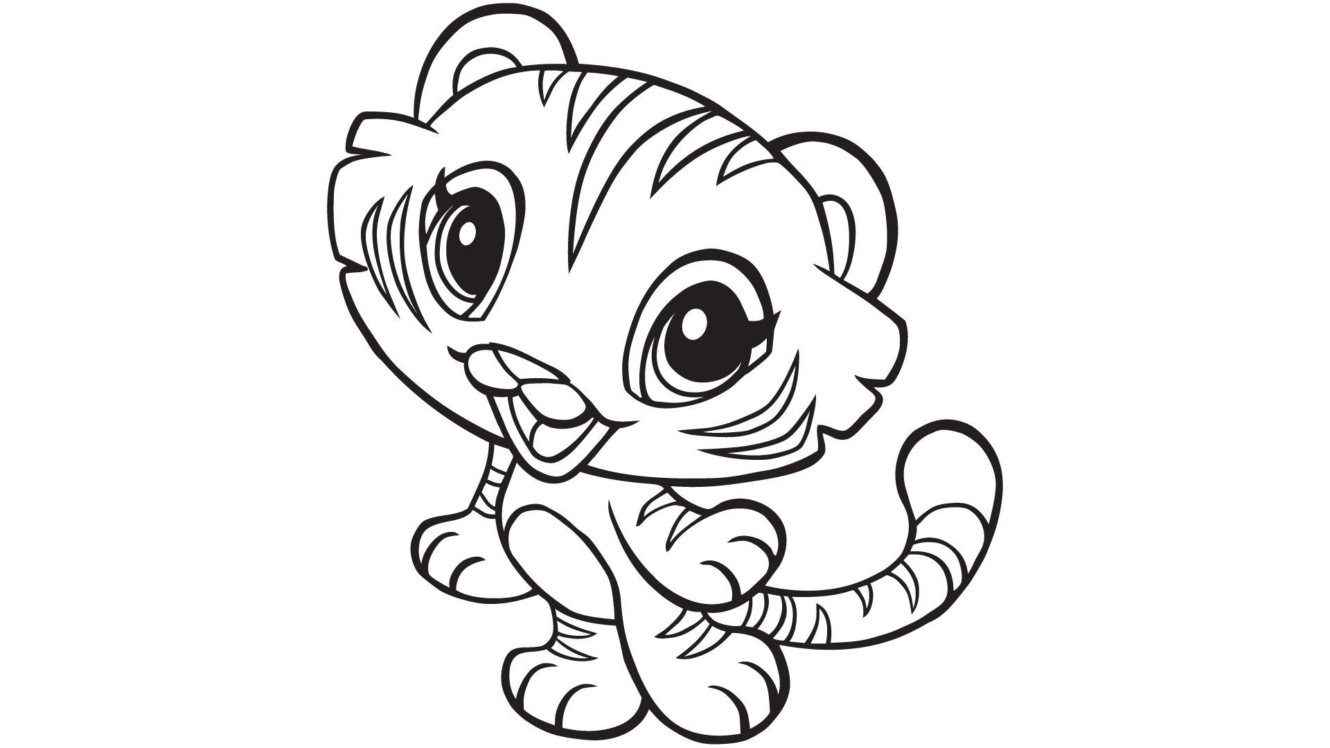 Cute Tiger Coloring Pages at GetDrawings | Free download