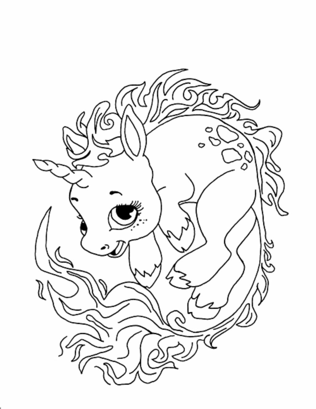 Cute Unicorn Coloring Pages at GetDrawings | Free download