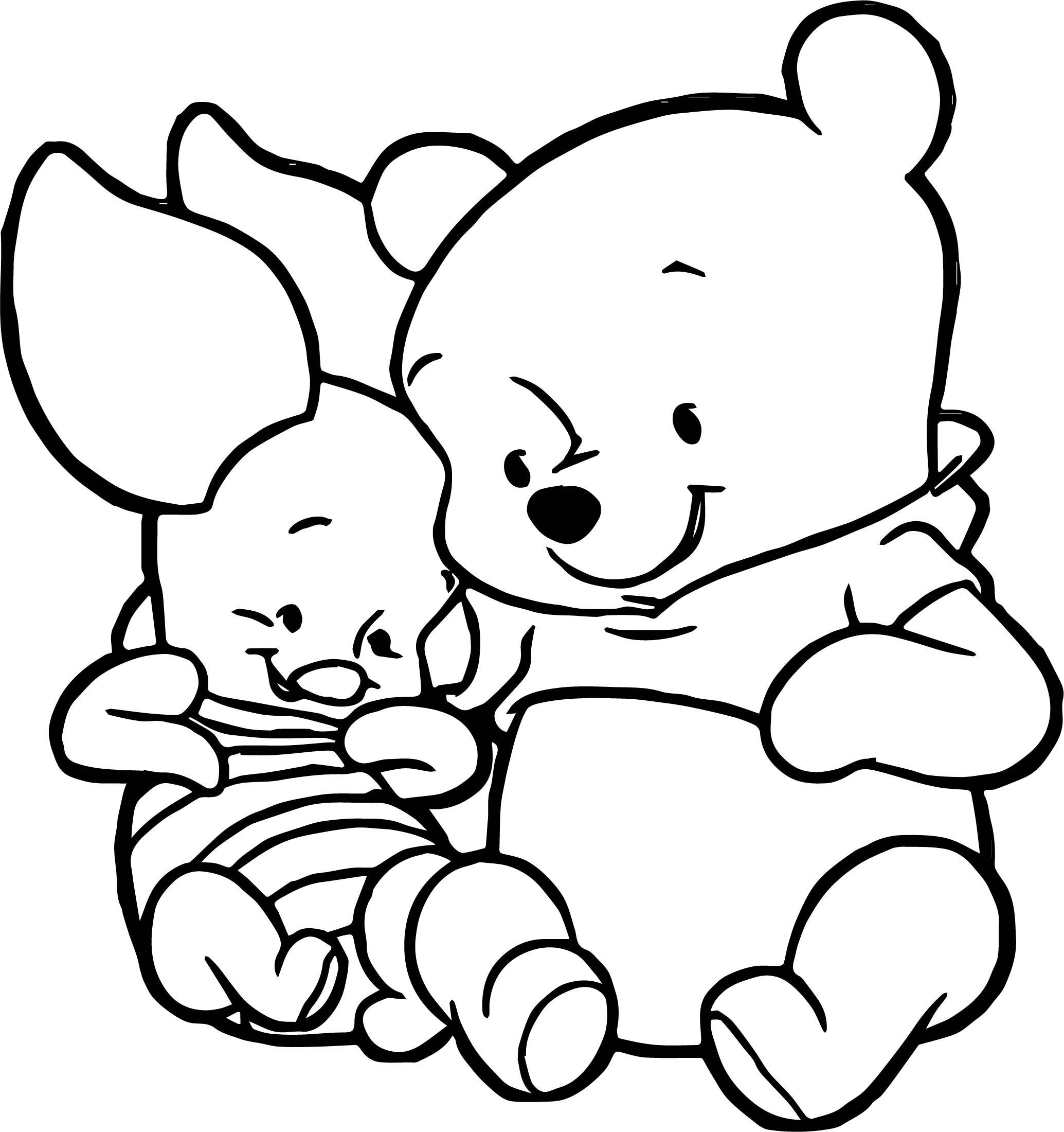 Baby piglet coloring pages ~ Cute Winnie The Pooh Coloring Pages at GetDrawings.com ...