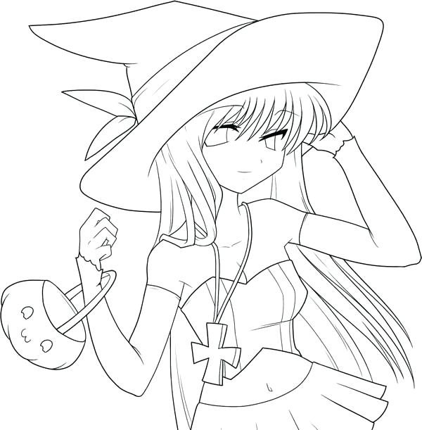 Cute Witch Coloring Pages