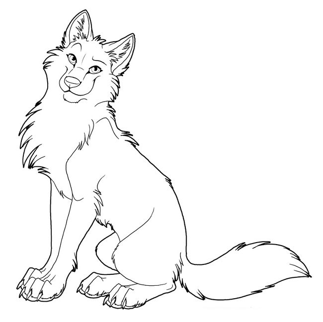 Cute Wolf Coloring Pages At Getdrawings Com Free For Personal Use