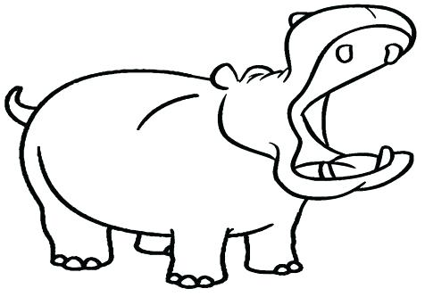 476x333 Hippo Pictures To Color Hippopotamus Coloring Pages Cute Wolf