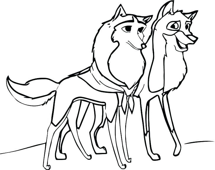 728x577 Cute Wolf Coloring Pages