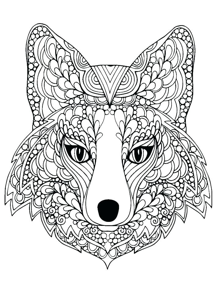 711x960 Cute Wolf Coloring Pages