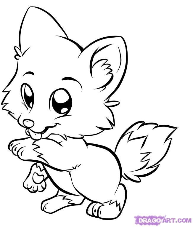 652x766 Wolf Coloring Pages For Kids Draw Baby Wolf Cute Animals