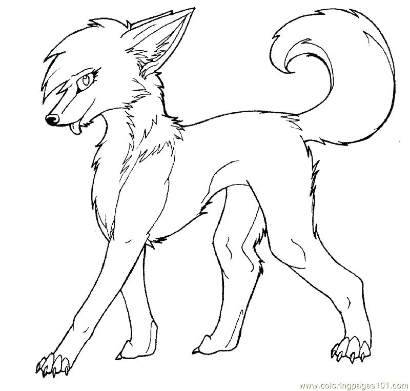 800x763 Anime Wolf Coloring Pages Cute Wolf Coloring Pages Anime Wolf