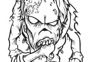 Cute Zombie Coloring Pages
