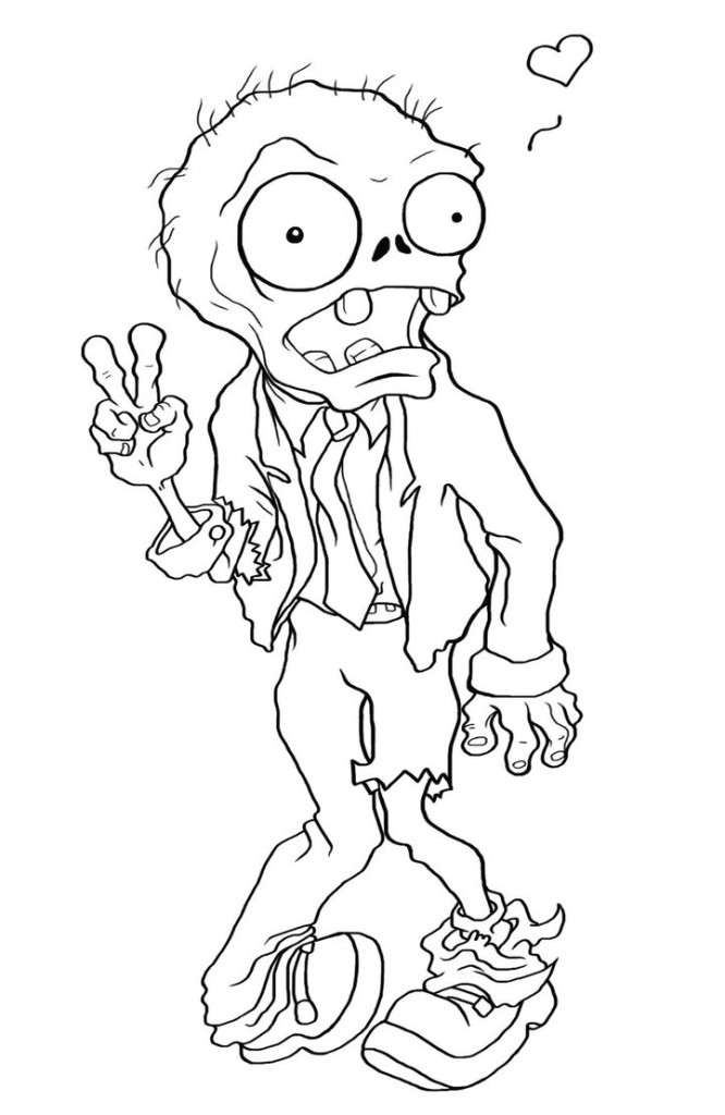 666x1024 Free Printable Zombies Coloring Pages For Kids