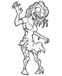 236x288 Print The Cute Zombie Coloring For Kids And Then Fill It