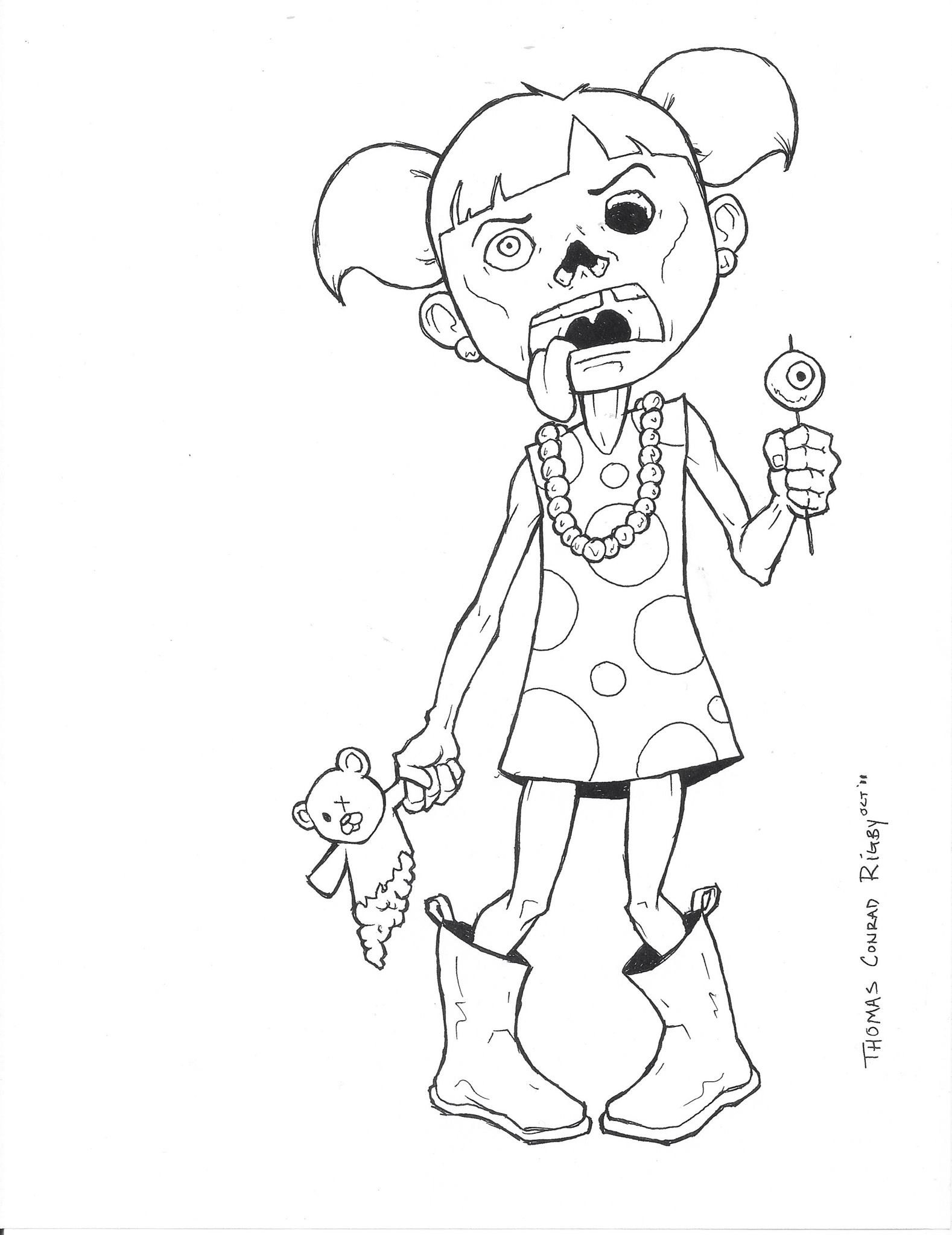 1578x2048 Zombie Coloring Page My Designs Adult Coloring