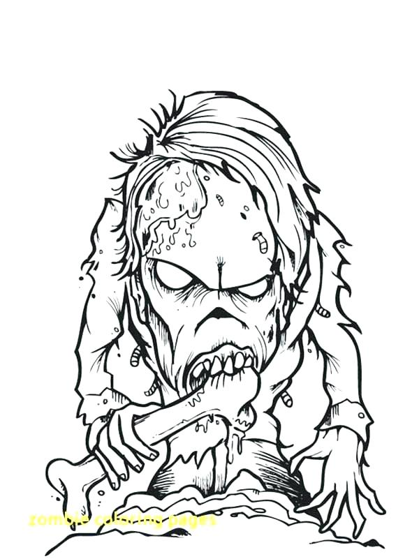 600x801 Zombie Coloring Pages