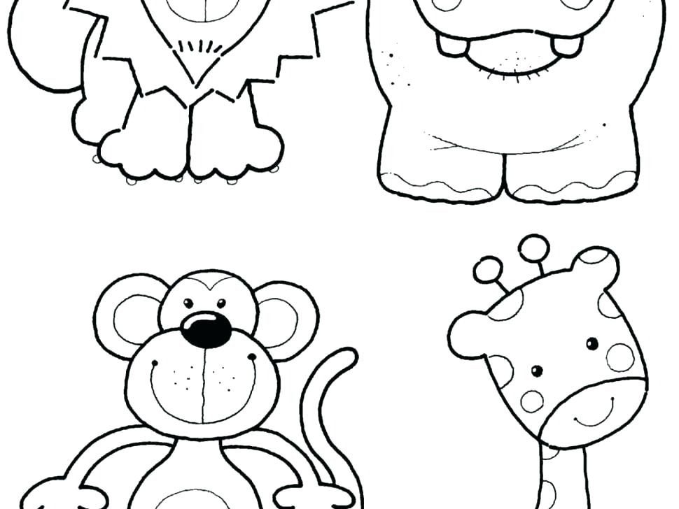 970x728 Coloring Pages Zoo Animals Cute Baby Zoo Animals Coloring Pages