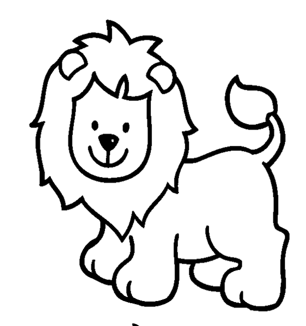 600x639 Cute Wild Animals Coloring Pages Best