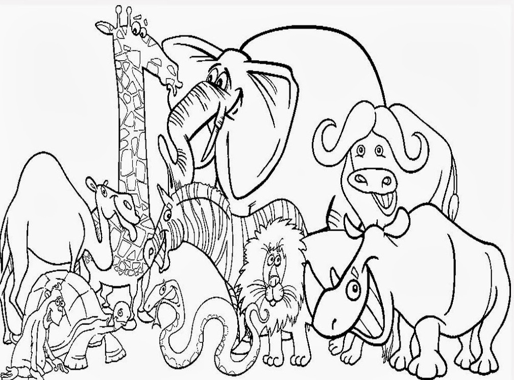 1007x745 Cute Zoo Animal Coloring Pages Kids Coloring Pages Printable