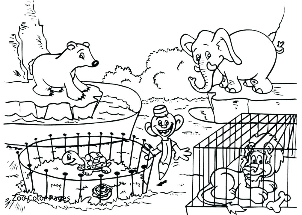 1008x718 Cute Zoo Coloring Pages
