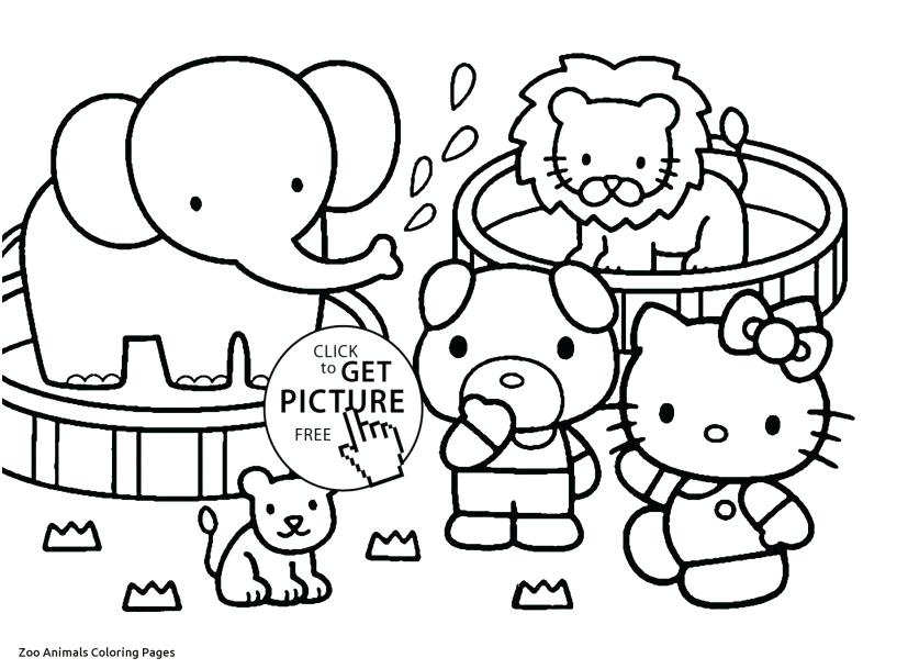 827x609 Safari Animals Coloring Pages Cute Zoo Animal Coloring Pages