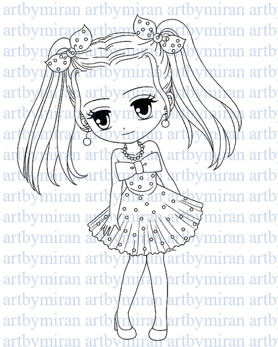 570x713 Digital Stamp Cutie Pie Hailey Digi Stamp Coloring Page
