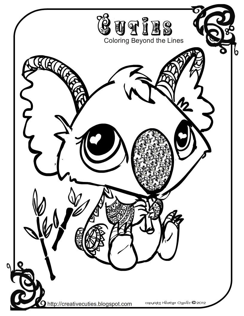 816x1056 New Heather Chavez Creative Cuties Animal Design Free Coloring
