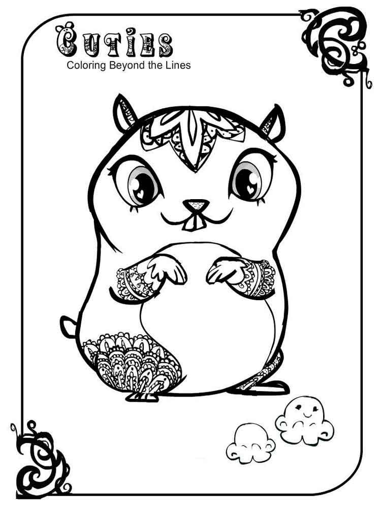 750x1000 Cuties Coloring Pages