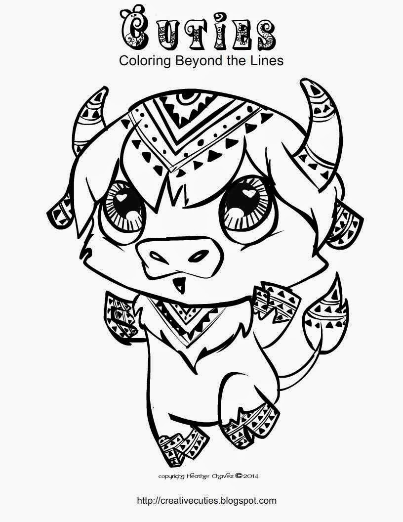 816x1056 Cuties Coloring Pages
