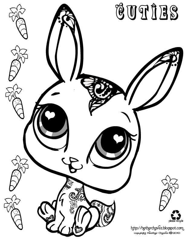 612x792 Cuties Rabbit Kleurplaten Coloring Sheets
