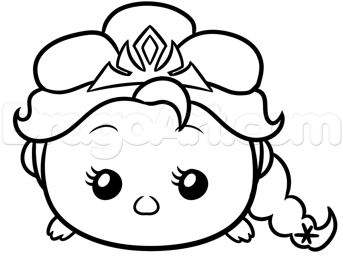 1137x864 Disney Cuties Coloring Pages Tsum Greece Draw With Kids