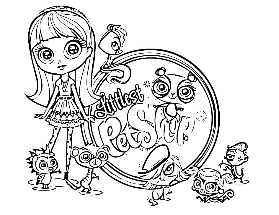 945x730 Littlest Pet Shop Colouring Pages Cuties Coloring Dog Pa