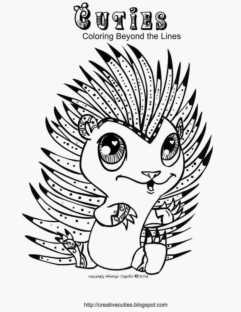 816x1056 Creative Cuties Hedgehog Cutie Coloring Page Printables Cool Pages