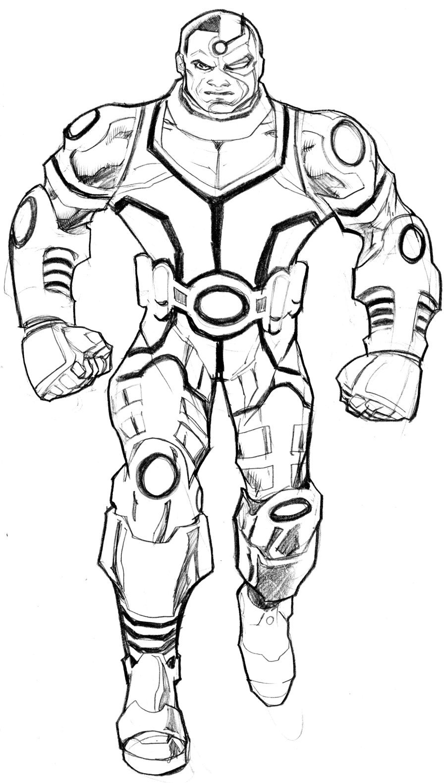 900x1578 Cyborg Coloring Pages Many Interesting Cliparts Lovely