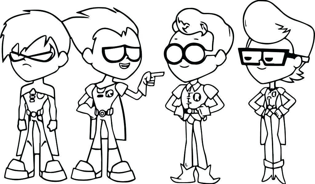 1024x600 Teen Titans Color Pages Teen Titans Color Pages Teen Titans