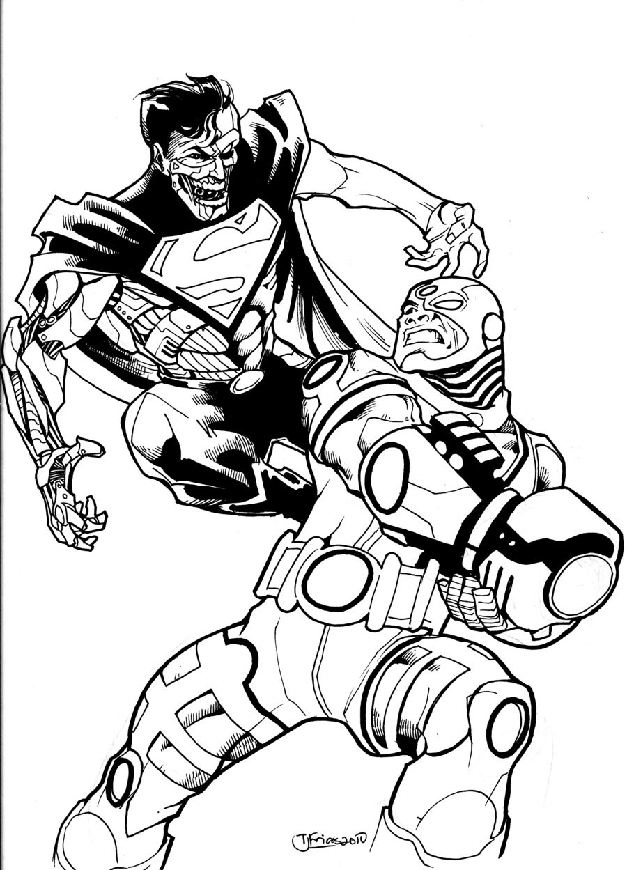 900x1249 Teen Titans Cyborg Coloring Page At Pages