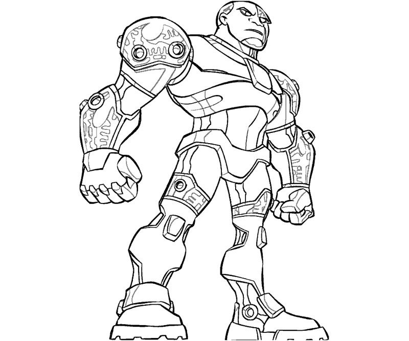 800x667 Teen Titans Cyborg Coloring Pages Coloring Kids Dc Super