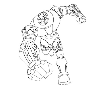 370x308 Cyborg Coloring Page