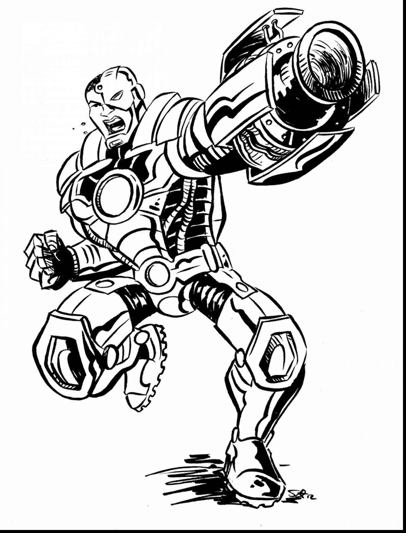 1342x1760 And Cyborg Coloring Pages