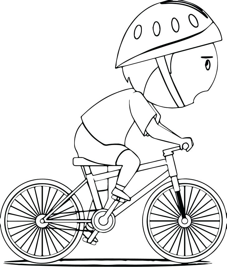 728x858 Bicycle Coloring Pages Bicycle Coloring Page With Wallpapers