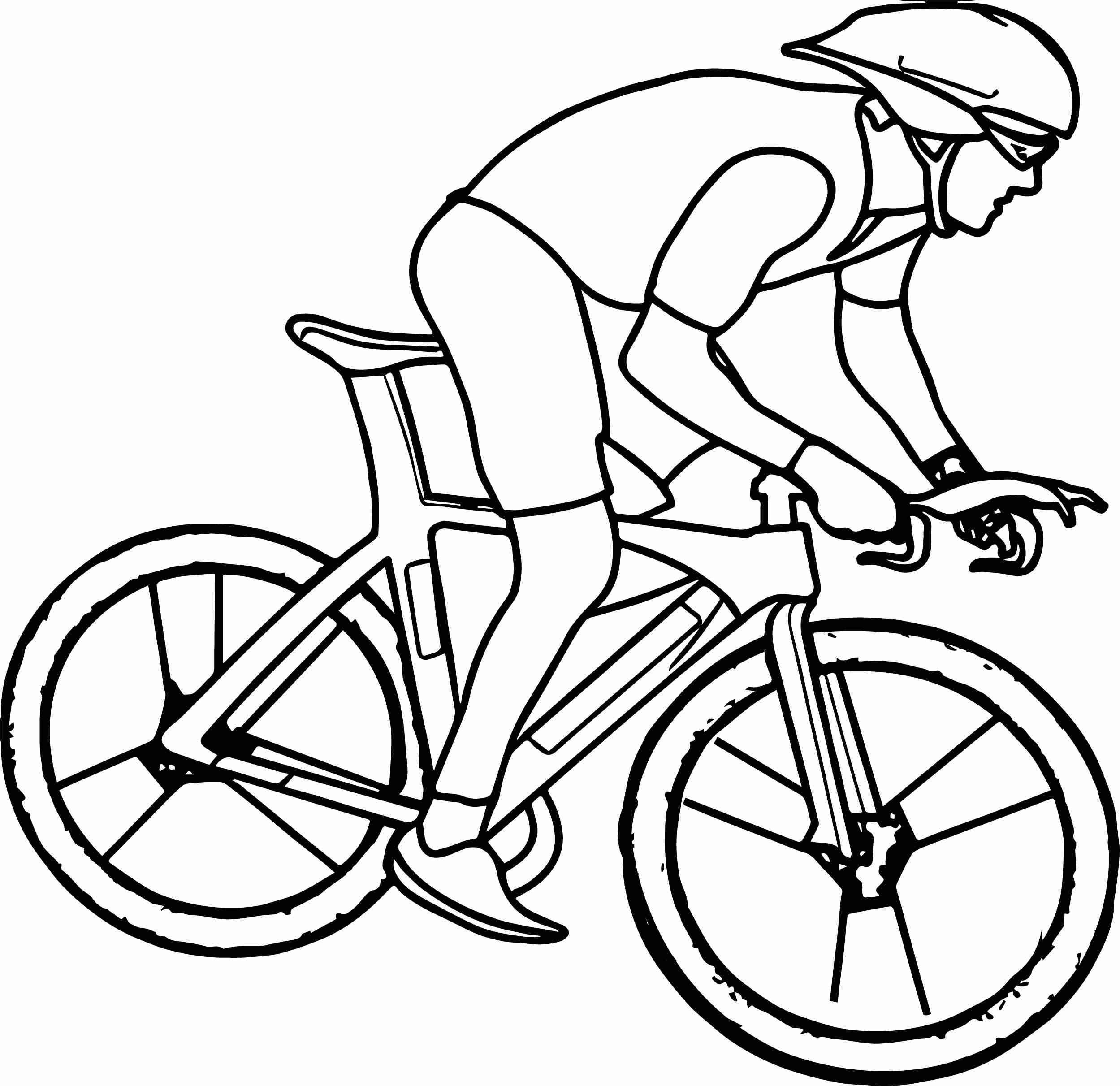 2499x2423 Cycling Bike Coloring Page Wecoloringpage Ripping Bicycle Pages